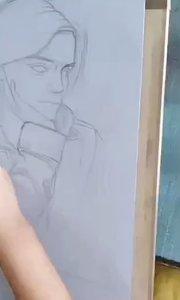 北京艺方学员王迎晨素描女青年肖像《赫敏》绘画过程#北京艺方美术培训##零基础学素描##北京素描培训班##书画之美