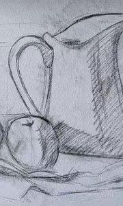 北京艺方美术学员王聆涛油画静物《白色瓷瓶》第一阶段 零基础学油画#北京艺方油画成人班##艺方油画基础班##书画之美