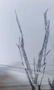 北京艺方学员张莉莉风景油画作品《荒原》北京艺方美术培训#成人零基础学油画##北京艺方油画速成班##手绘风景油画##书画之美