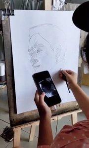 北京艺方美术学员王迎晨素描人像绘画《张国荣》#素描绘画#零基础学素描#北京艺方成人素描班##成人零基础学素描#书画之美