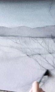 北京艺方美术学员王聆涛油画作品《冬雪》第一阶段 北京油画成人培训#北京艺方油画速成班#零基础学风景油画##书画之美