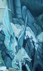 这个美女画超写实油画好厉害!油画速成班 北京艺方学员崔百合油画风景作品《霍格沃兹城堡》完成#书画之美 #零基础学油画##北京艺方油画速成班#
