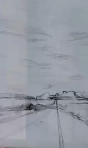 北京艺方美术学员温中薇油画作品《天路》北京艺方成人油画班#风景油画##油画速成##零基础油画##书画之美