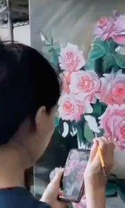 北京艺方学员熊昱彤油画作品《瓶中月季花》第四阶段 #北京艺方油画速成班##零基础油画课程##北京油画成人班##书画之美