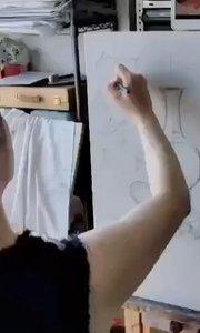 周末零基础学油画!北京艺方学员张璐油画作品《红桌布黄陶罐》第一阶段 北京美术培训 北京油画周末班##书画之美