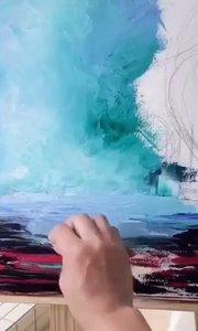 你想画画吗?北京艺方学员作品《绚烂林间》3地面绘画 刮刀油画作品 我就是爱画画!#北京艺方油画班#书画之美