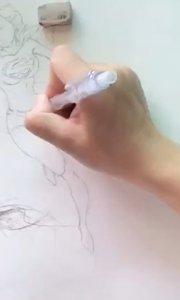 插画线稿绘画 艺方学员朱淑红插画作品《超级女侠》漫威英雄绘画#插画培训##零基础学插画##书画之美