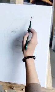北京艺方学员田洁油画女青年真人肖像写生绘画,第一阶段起稿#零基础油画##油画写生##油画人像##书画之美