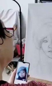 北京艺方学员李德惠油画肖像作品《桃桃》第一阶段起稿铺色#北京油画成人班##老年油画培训##零基础学油画##书画之美