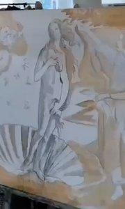 北京艺方学员张璐油画临摹作品《维纳斯的诞生》70×120cm起稿第二阶段#北京油画班##油画大师班#书画之美