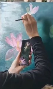 北京艺方学员熊昱彤原创油画花卉作品《孕育盛开》第一阶段#零基础油画##北京油画班##油画培训#书画之美