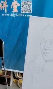 想学油画吗?人像油画写生课程!北京艺方学员田洁油画写生作品《女中年肖像》 第一阶段#北京油画班##零基础学油画#书画之美