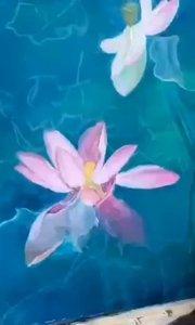 很美的花卉油画作品!北京艺方学员熊昱彤原创油画花卉作品《孕育盛开》2#书画之美