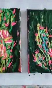 丙烯流体绘画作品 北京艺方学员王昭君流体绘画作品#书画之美