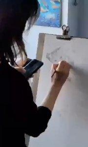 我爱画速写 北京艺方学员崔百合速写作品《速写英短猫》速写绘画#书画之美