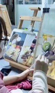 北京艺方学员龚琪水粉绘画作品《静物组合》第二阶段#水粉绘画##初学水粉画##零基础学水粉绘画##书画之美