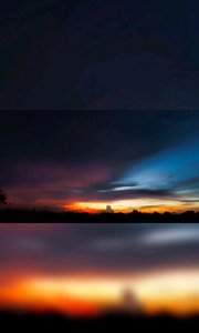 秋分赤蓝 日落月弯