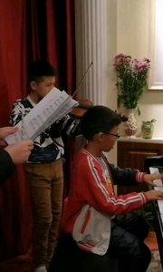 我和我的祖国钢琴手风琴版排练