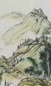 源自传统古风的山水画。