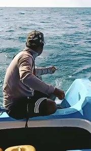 #户外动起来 #带着花椒去旅行 #钓鱼 #海钓 #鱼 #美食不能少 #刀鱼 #斯里兰卡 印度洋海钓 徒手鱼线不用鱼杆。