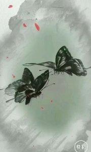 蝴蝶成双飞, 孤灯照画人。 寄语解相思, 说与谁来疼!
