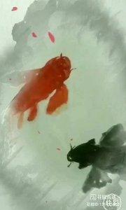 才艺展示:水墨画,太极鱼?