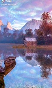 《宁静的湖》  宁静的湖 如一面镜子 照射出我心之向往 如梦一样在我心中……