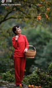 《柿子红了的时候》  金秋十月采摘忙 红红的柿子满树上 春华秋实结硕果 来年更是满园香……