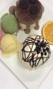 网红冰淇淋吃法
