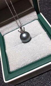 大溪地黑珍珠吊坠