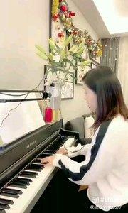 @松叶叶?? 钢琴弹唱《把悲伤留给自己》#爱唱歌的松叶 #花椒音乐人