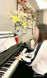 @松叶叶?? 钢琴弹唱《如果云知道》#爱唱歌的松叶 #花椒音乐人 #主播的高光时刻