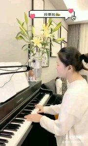 @松叶叶?? 钢琴弹唱《那女孩对我说》#爱唱歌的松叶 #花椒音乐人 #主播的高光时刻