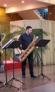 烏克蘭大師尤里老師與他的學生。四重奏薩克斯!#薩克斯 #純音樂 #花椒音樂人