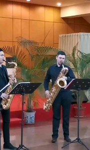 烏克蘭薩克斯風大師尤里老師,重奏-一定要聽完后面有-布谷鳥#薩克斯 #純音樂 #花椒音樂人 #演奏