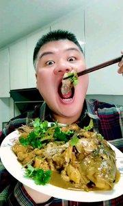 吃酱焖鲤鱼,做法在上一个视频,祝大家在新的一年里年年有余 #酱焖鲤鱼# #东北菜##吃秀# #吃货#