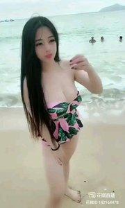 浪漫海边美女?