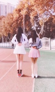 两个小姑娘在跳校园舞  猜猜这是啥舞