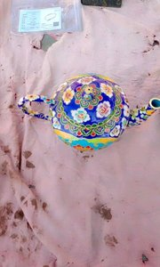 法郎彩茶壶茶杯