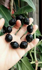 紫金招财鼠菩提,纯天然黑金八大财神,专注整黑金籽哦,稀少,黑色给人神秘和高贵感,你值得拥有!