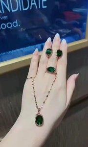 ?新款精美宝石套装✨✨清新绿宝石??