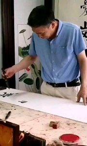 中国原【嘀~】作战【嘀~】书法家-严宜玉,亲自为汪海斌混序小马云献墨笔。