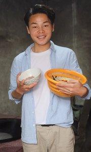 蕨菜炒肉片