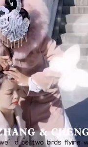 ?古典舞拍摄花絮,老师在把帮学员整理妆容#爱跳舞的我最美