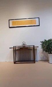 榫卯家具,新中式禅意玄关台,实为一代代匠人良心打造,成为永不过时的东方美学。#新中式家具 #禅意家具 #家具定制