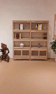 新中式禅意书柜工艺采用传统榫卯结构,手工打磨,潜心制作。#新中式家具 #新中式设计 #禅意家具 #新中式书柜