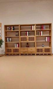 """#新中式书柜 #茶叶展示柜 #家具定制 精湛的明清工艺、卯榫结构到位,融合东西方文化传统与现代的结合,体现了""""传递古典家具新美学""""这一企业理念。"""