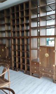 新中式双面隔断展柜,可做屏风书柜的双面展示柜大家见过吗?#新中式家具 #书柜定制 #全屋家具定制