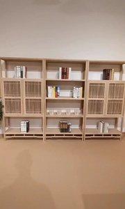 新中式书柜,拥有独具匠心的设计、流畅的线条#新中式家具 #禅意家具 #书柜 #书房设计 #定制家具 #