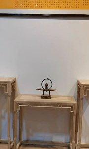 新中式玄关台不仅漂亮而且用途很多,可以做#玄关桌#条案#新中式供桌#新中式家具#定制家具#禅意家具#